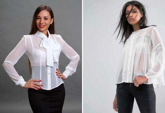 женские стильные белые рубашки 2017