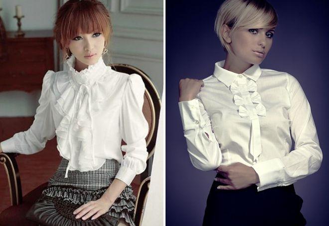 белые рубашки для женщин 2017