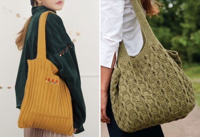 большие трикотажные сумки