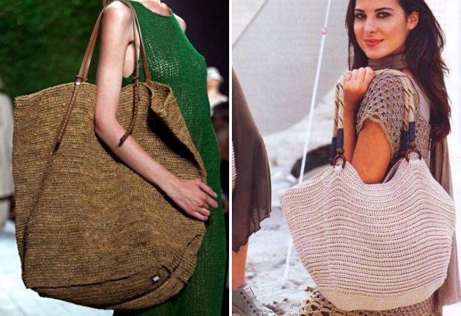 большие плетеные сумки