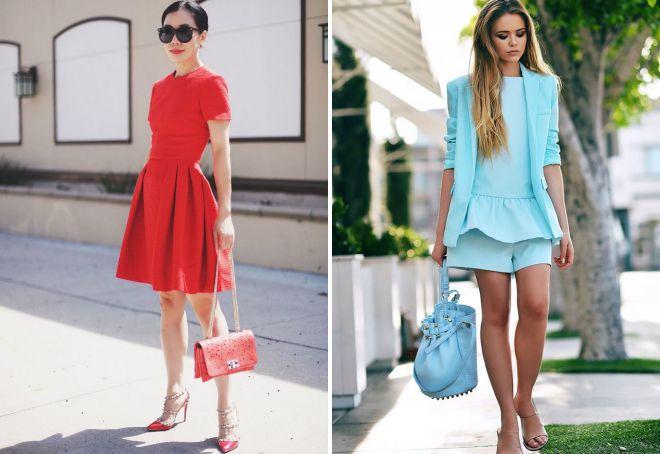 стильные летние образы с сумкой