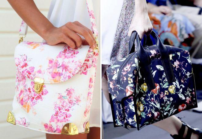 летние сумки с цветочным принтом
