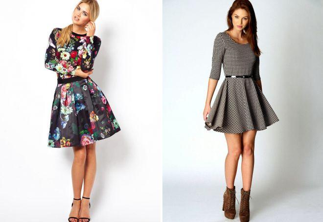 модные платья с принтом