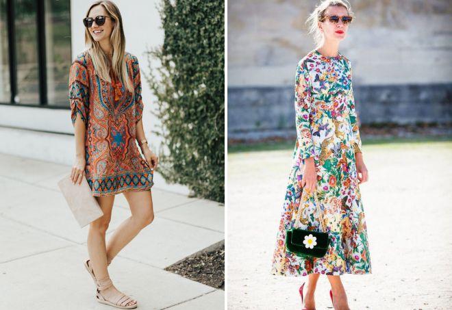 с чем носить платье с принтом