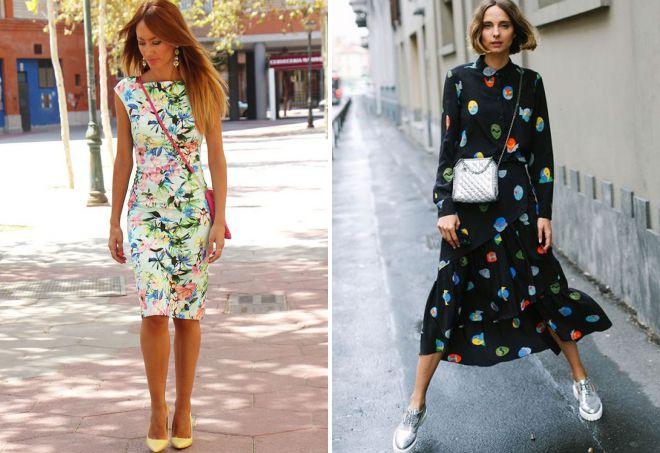 модный принт на платье