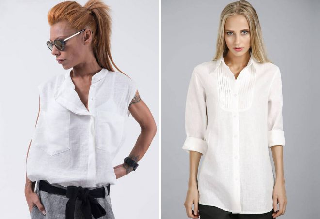 легкая льняная рубашка