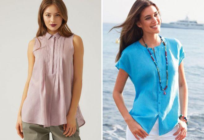льняные рубашки для женщин