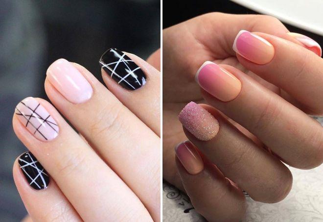 дизайн ногтей 2018 на короткие квадратные ногти