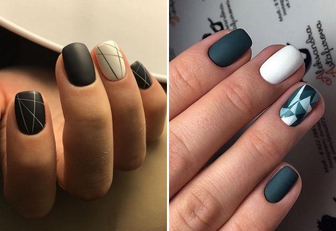 маникюр геометрия 2018 на короткие ногти