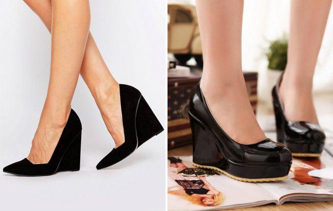женские туфли черный цвет