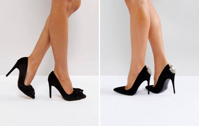 женские классические черные туфли