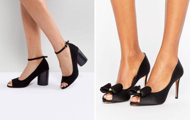 удобные женские черные туфли
