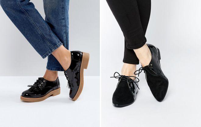 женские черные туфли на каждый день