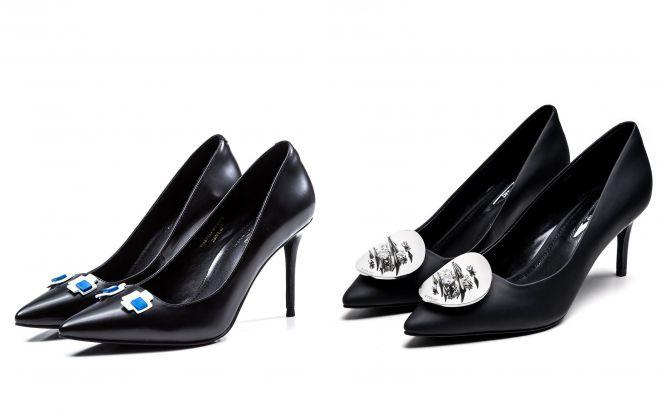 вечерние женские черные туфли