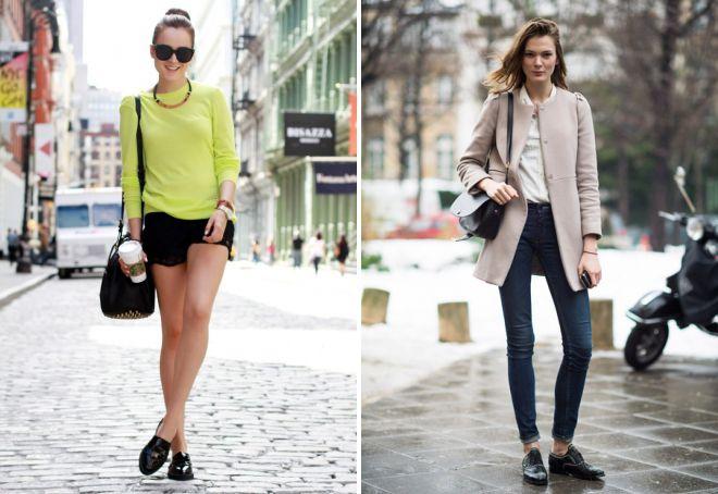 с чем носить женские черные туфли