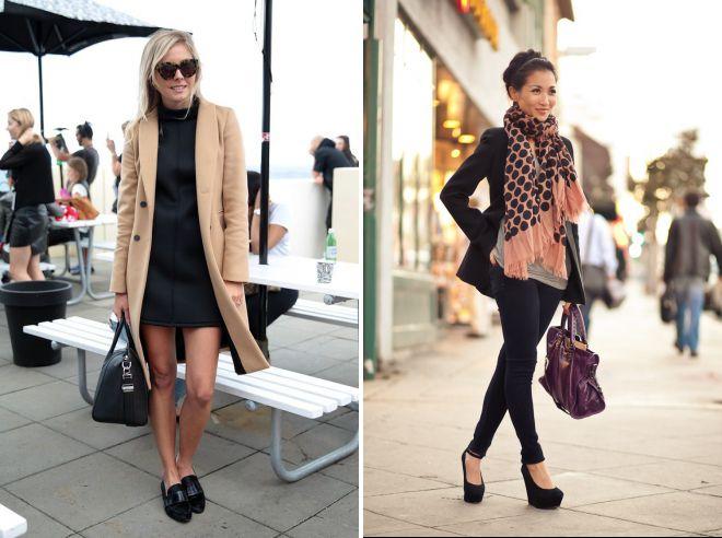 образы с женскими черными туфлями