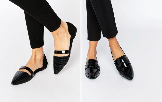 женские черные туфли 2018