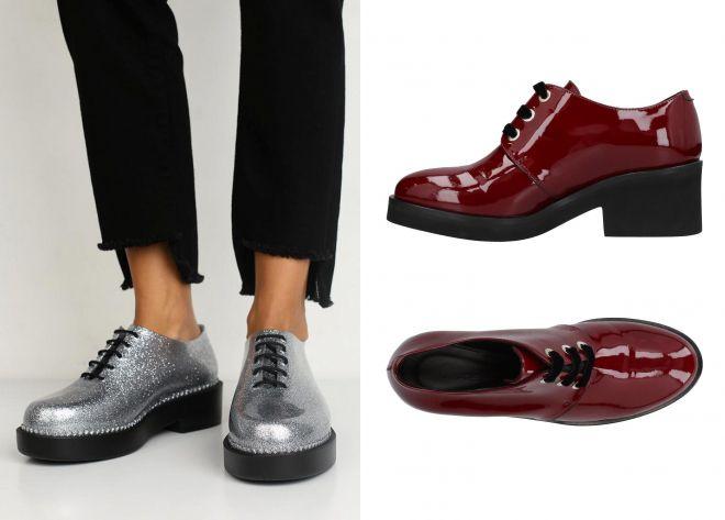 резиновые туфли на шнурках