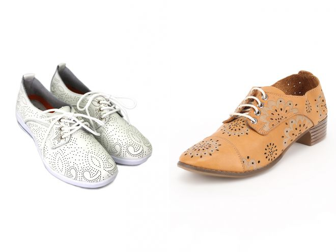 летние туфли на шнурках