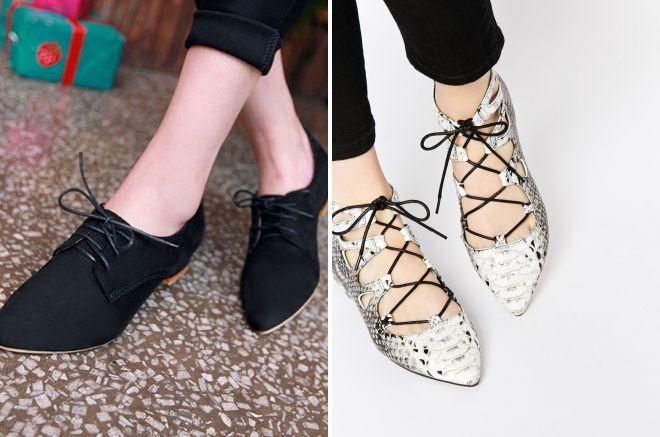 как красиво завязать шнурки на туфлях