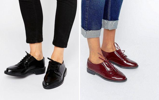 туфли на шнурках 2018