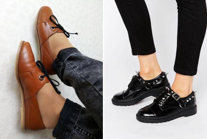 кожаные туфли на шнурках