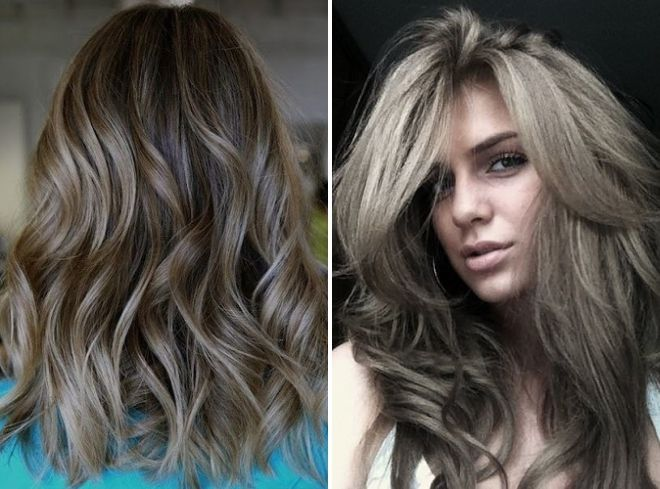 модный серый цвет волос