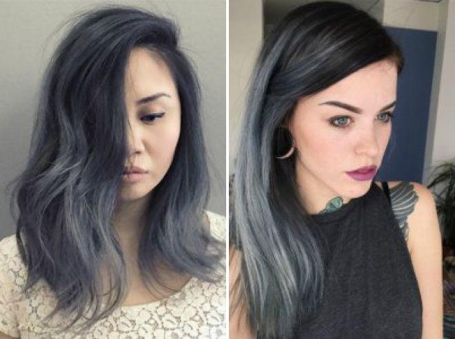 черно серый цвет волос