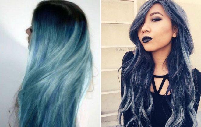 серый цвет волос у девушек