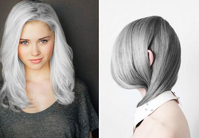 глубокий серый цвет волос