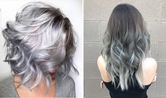 окрашивание волос в серый цвет