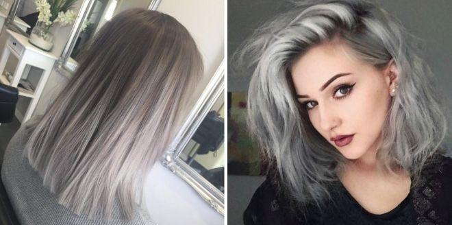 стильные волосы серого цвета