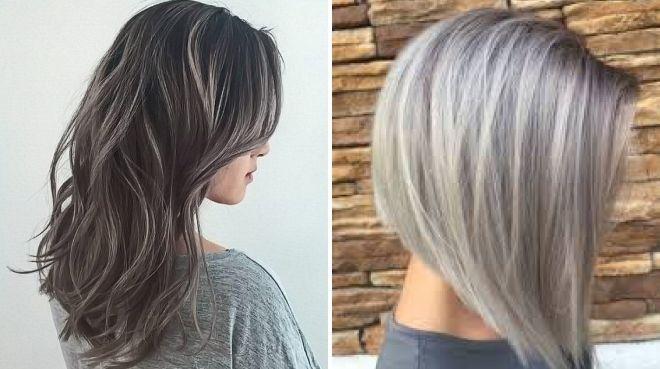 мелирование волос с серым цветом