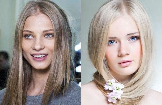 серый цвет волос для голубых глаз