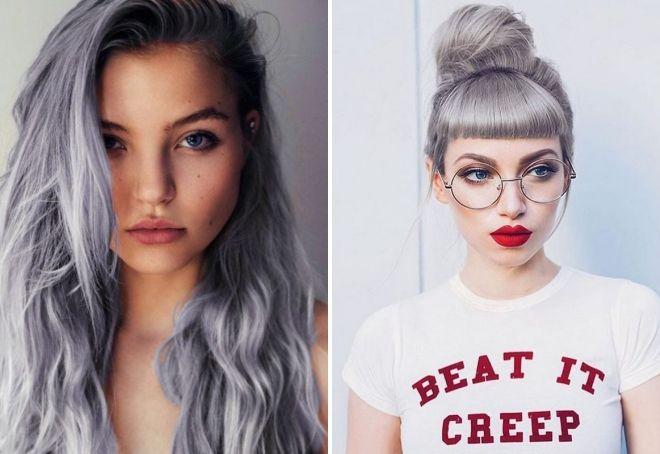 оттенки серого цвета волос