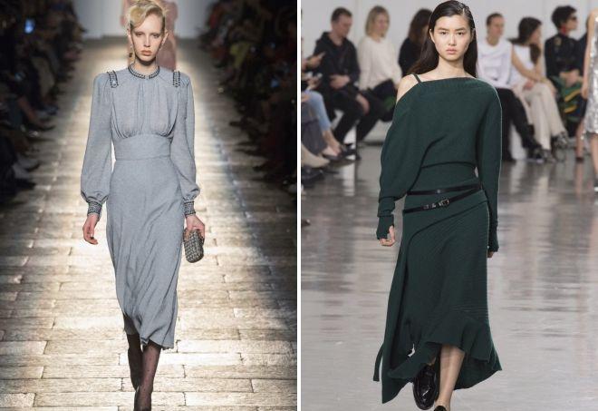 осенние трикотажные платья
