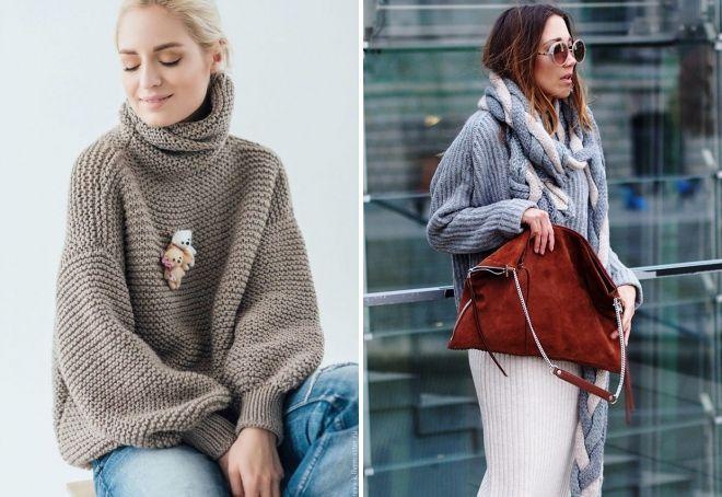 модные вязаные джемпера 2018 2019