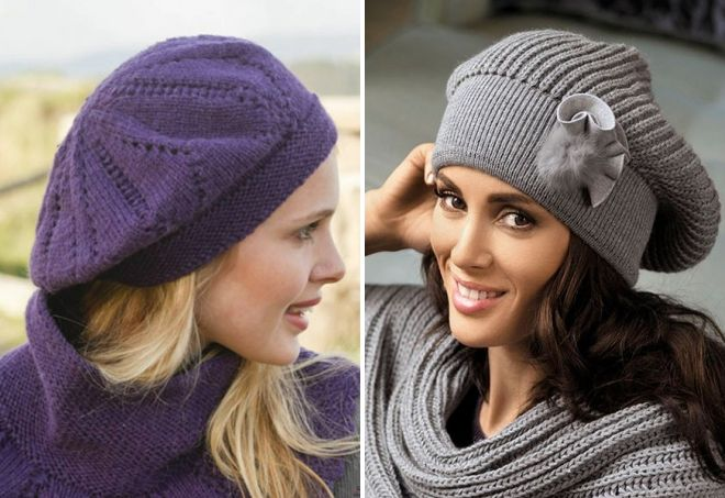 bérets tricotés à la mode