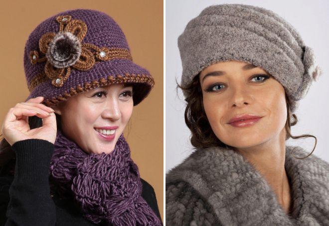 کلاه بافتنی شیک برای خانمهای مسن