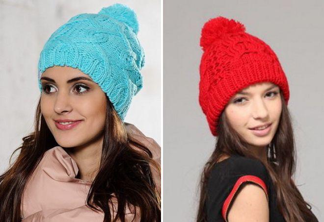 модные цвета вязаных шапок