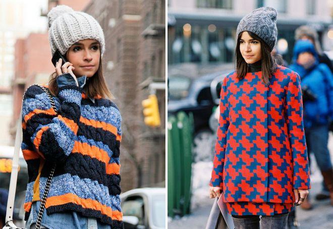 самые модные вязаные шапки