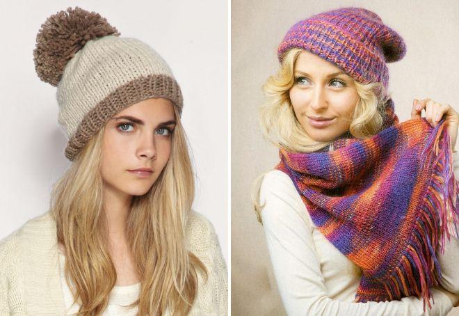 самые стильные вязаные шапки