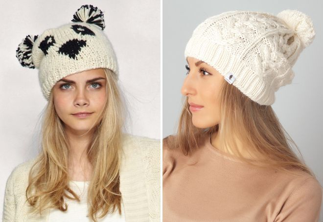 کلاه های بافتنی مد برای خانم ها