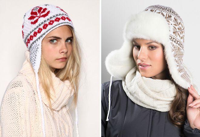 casquettes tricotées avec des liens