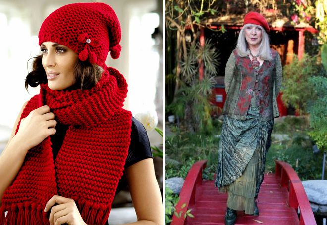 کلاه بافتنی برای زنان سالمند