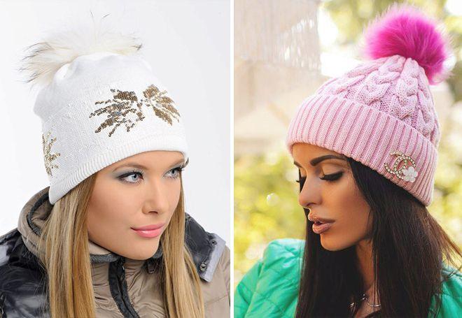 chapeaux tricotés de mode 2018