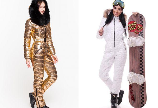 брендовые женские зимние комбинезоны