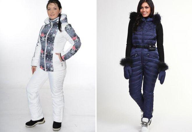 женские зимние спортивные комбинезоны