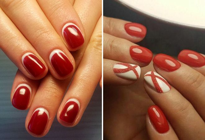 Manucure 2018 rouge pour ongles courts