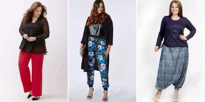модные брюки для полных женщин 2018